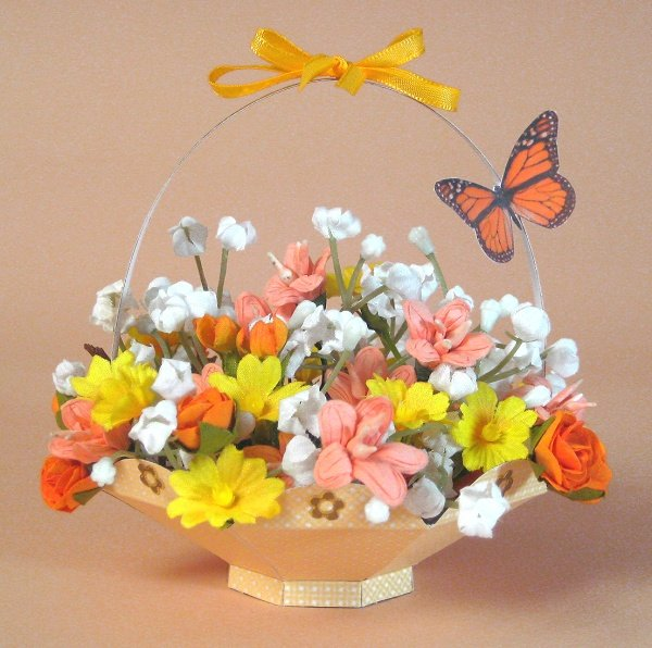 Card Craft / Card Making Templates - Flower Basket