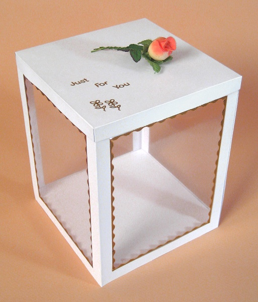 Card Craft / Card Making Templates - Flower Basket Display Box
