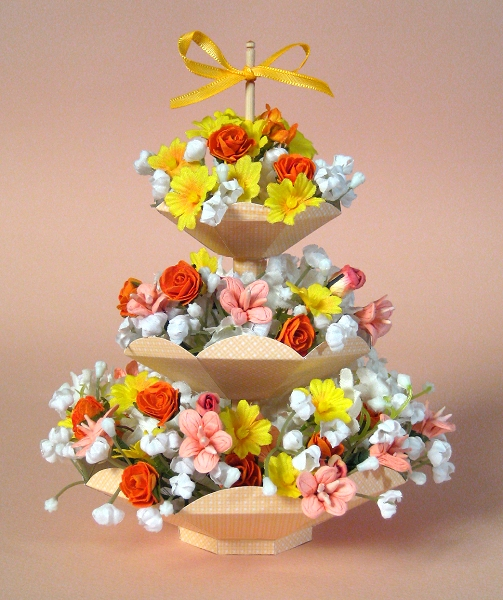 Card Craft / Card Making Templates - 3 Tier Flower Stand