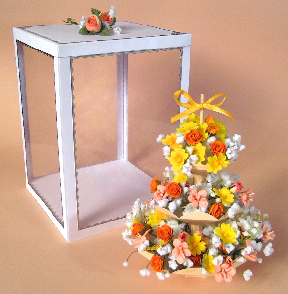 Card Craft / Card Making Templates - 3 Tier Flower Stand and Display Box