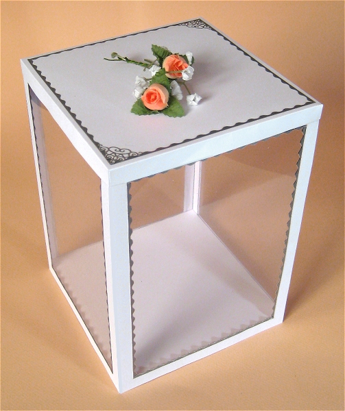 Card Craft / Card Making Templates - 3 Tier Flower Stand Display Box
