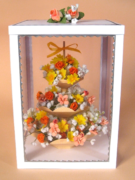 Card Craft / Card Making Templates - 3 Tier Flower Stand in Display Box