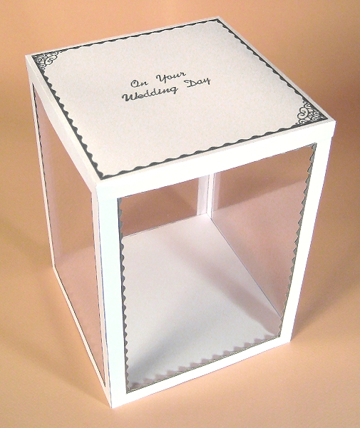 Card Craft / Card Making Templates - 3 Tier Wedding Cake Display Box