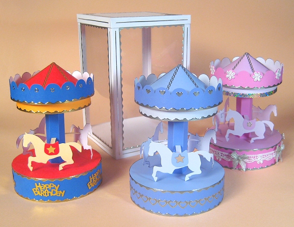 Card Craft / Card Making Templates - Carousel and Display Box