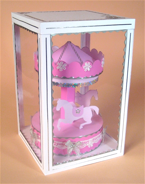 Card Craft / Card Making Templates - Carousel in Display Box