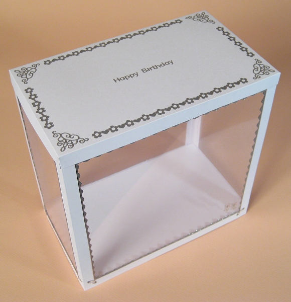 Card Craft / Card Making Templates - Watering Can Display Box