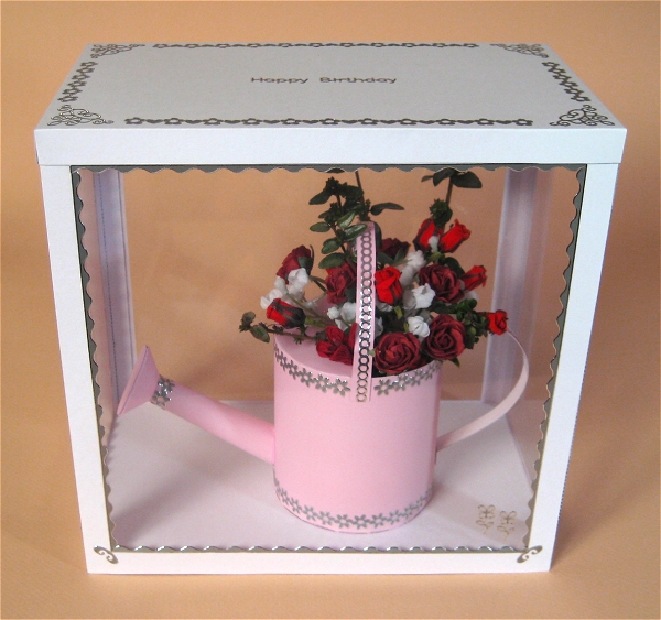 Card Craft / Card Making Templates - Watering Can in Display Box