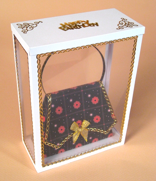 Card Craft / Card Making Templates - Handbag in Display Box