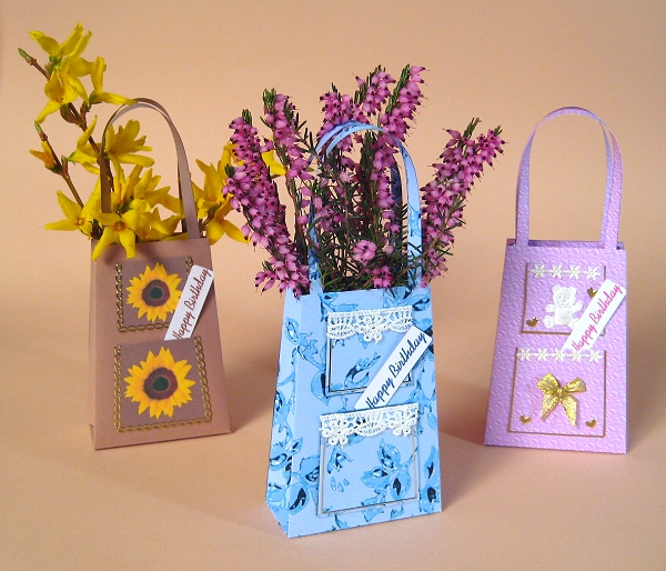 Card Craft / Card Making Templates - Handbag