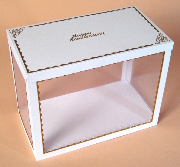 Card Craft / Card Making Templates - Wheelbarrow Display Box