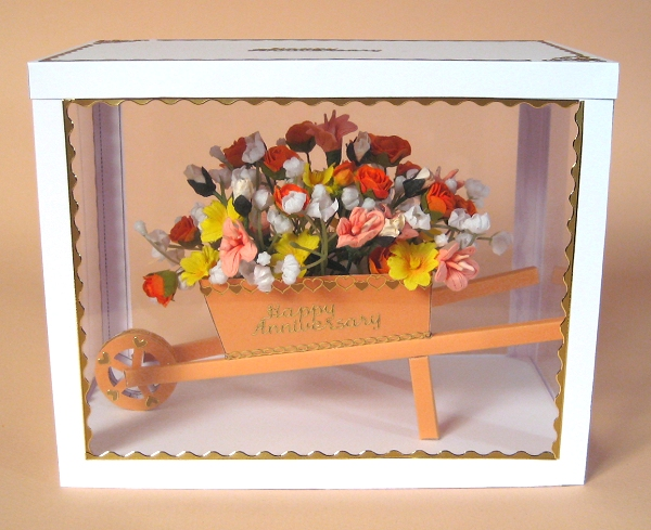 Card Craft / Card Making Templates - Wheelbarrow in Display Box