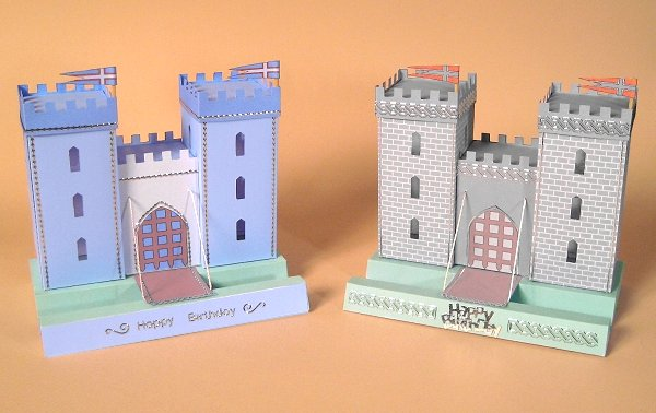 Card Craft / Card Making Templates - Castle