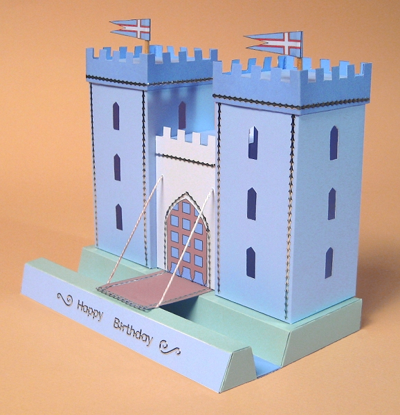 Card craft card making templates opening 3d castle by card card craft card making templates castle pronofoot35fo Images