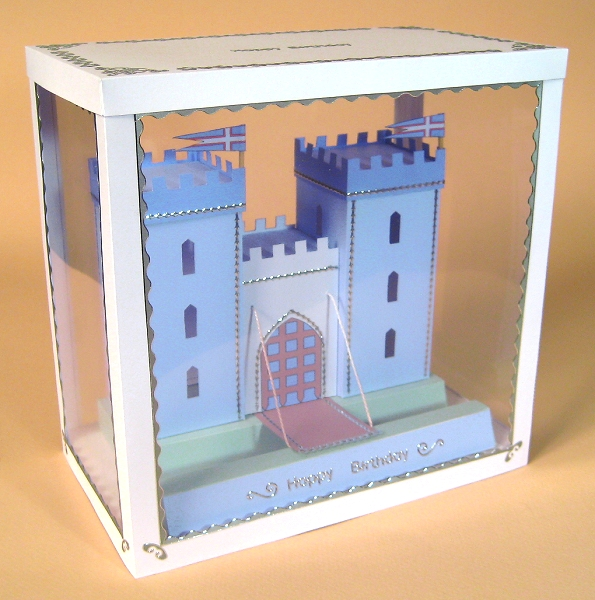 Card Craft / Card Making Templates - Castle in Display Box