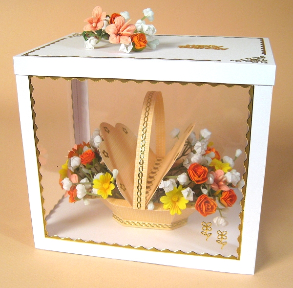 Card Craft / Card Making Templates - Flower Basket in Display Box