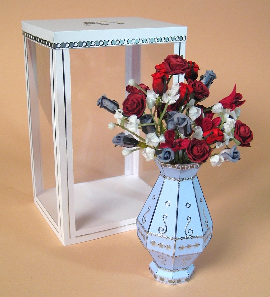 A4 Card Making Templates for 3D Flower Vase and Display Box by Card ...