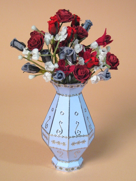 Card Craft / Card Making Templates - Flower Vase