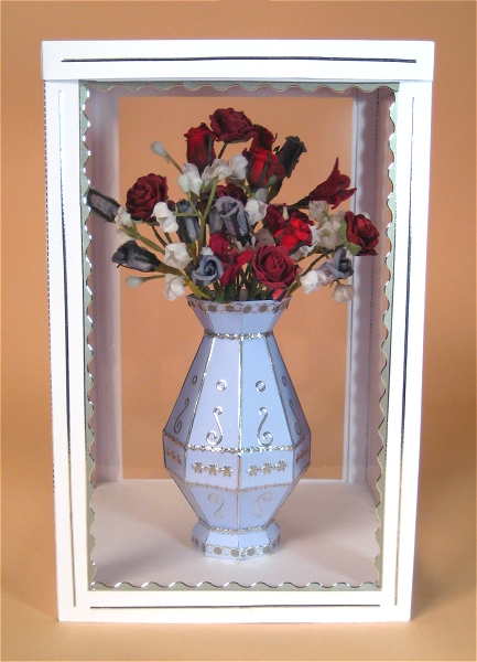 Card Craft / Card Making Templates - Flower Vase in Display Box