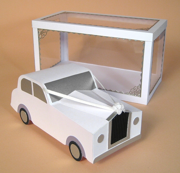 Card Craft / Card Making Templates - Wedding Car and Display Box