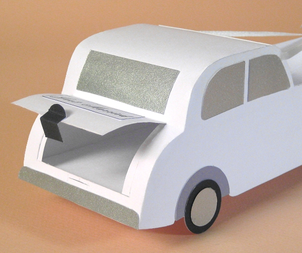 Card Craft / Card Making Templates - Wedding Car