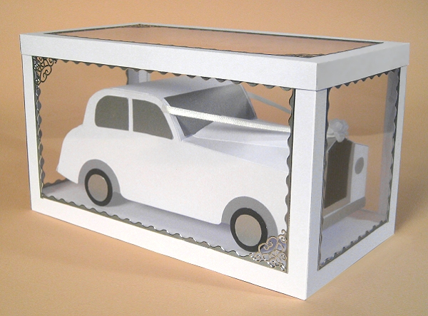 Card Craft / Card Making Templates - Wedding Car in Display Box