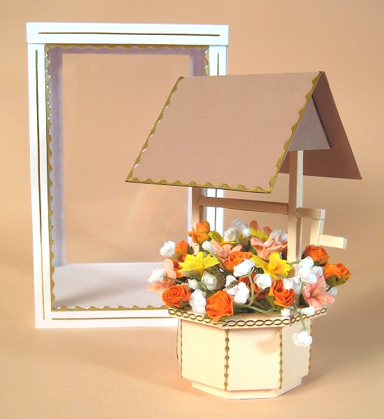 Card Craft / Card Making Templates - Wishing Well and Display Box