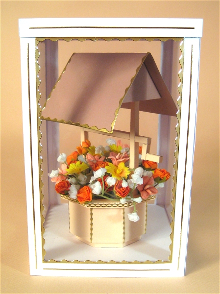 Card Craft / Card Making Templates - Wishing Well in Display Box
