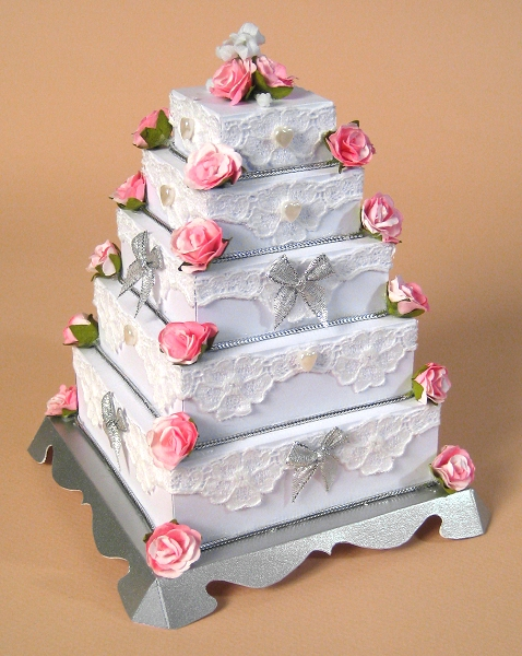Card Craft / Card Making Templates - 5 Tier Wedding Cake