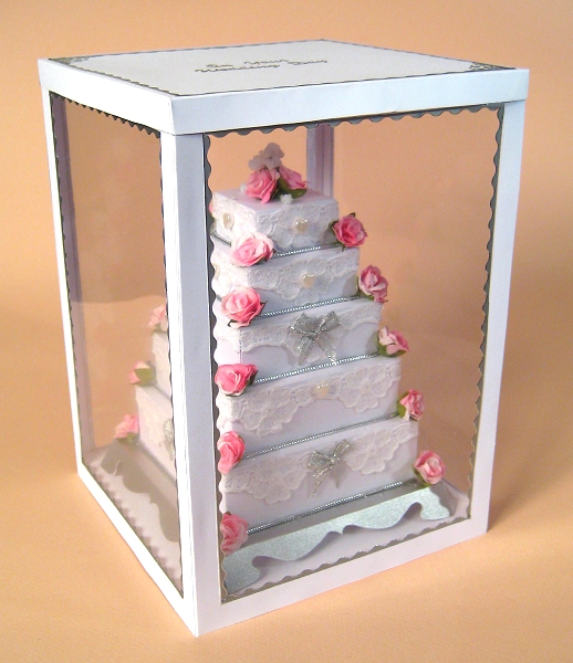 Card Craft / Card Making Templates - 5 Tier Wedding Cake in Display Box
