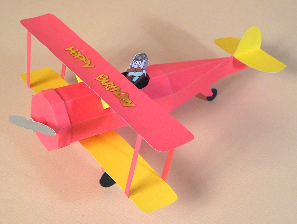 Card Craft Card Making Templates Opening 3d Biplane