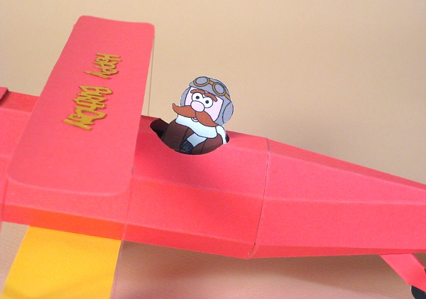 Card Craft / Card Making Templates - Biplane
