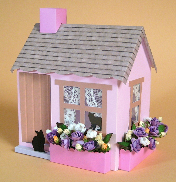 Card Craft / Card Making Templates - 3D Opening Cottage by Card ...