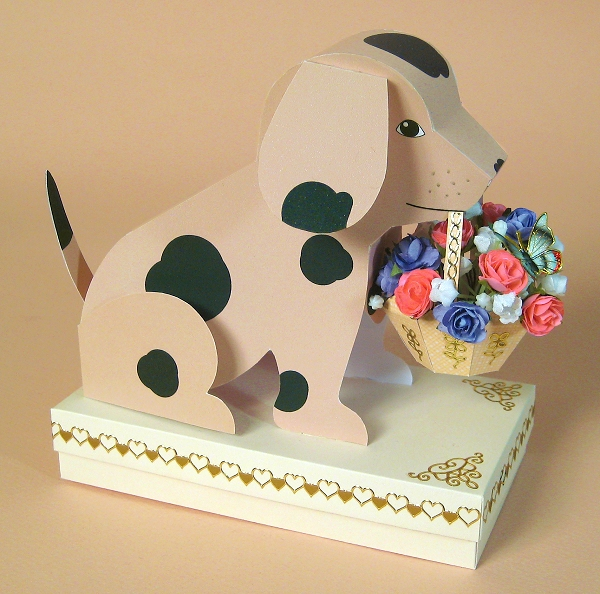 Card Craft / Card Making Templates - Barney the Dog