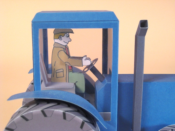 Card Craft / Card Making Templates - Tractor, driver close-up