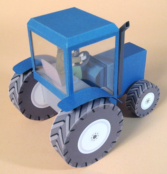 Card Craft / Card Making Templates - Tractor