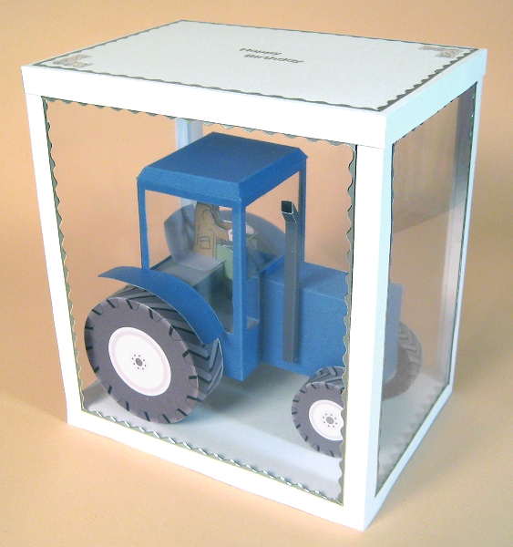 Card Craft / Card Making Templates - Tractor in Display Box