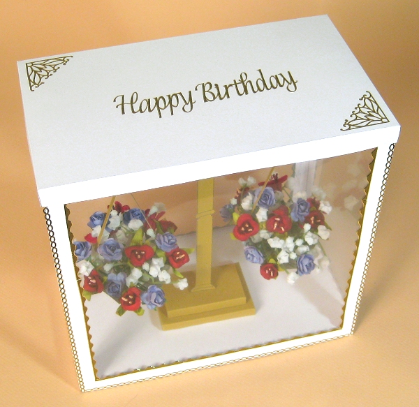 Card Craft / Card Making Templates - Flower Scales in Display Box, showing lid decoration