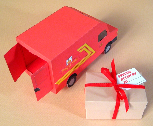Card Craft / Card Making Templates - Post Van and Gift Box