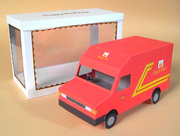 Card Craft / Card Making Templates - Post Van and Display Box