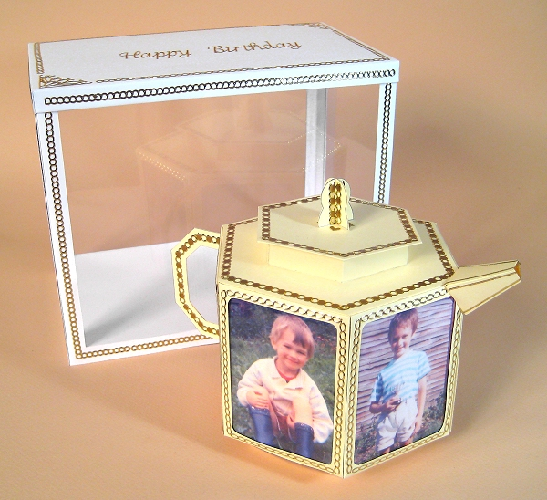 Card Craft / Card Making Templates - Teapot and Display Box