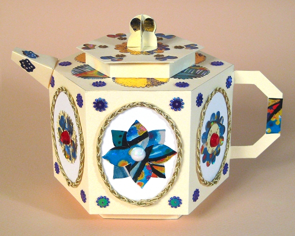 Card Craft / Card Making Templates - Teapot