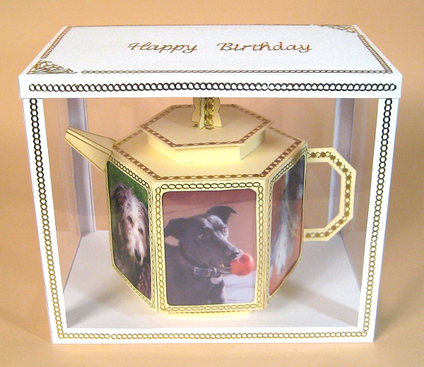 Card Craft / Card Making Templates - Teapot in Display Box