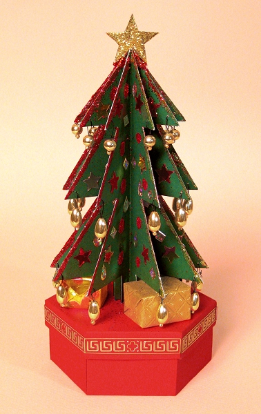 Card Craft Templates - Christmas Tree