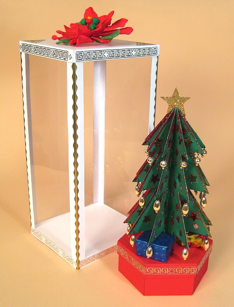 Card Craft / Card Making Templates - Christmas Tree and Display Box