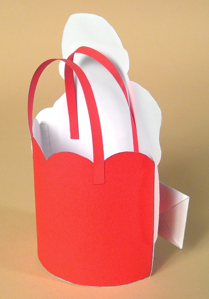 Card Craft Templates for Christmas - Santa Bag