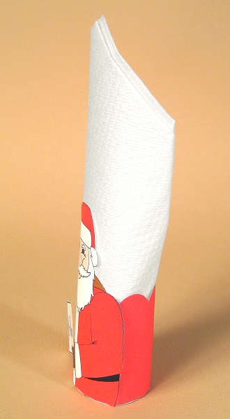 Card Making Templates for Christmas - Serviette Holder