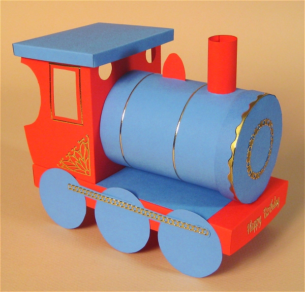 Card Craft Templates - Train