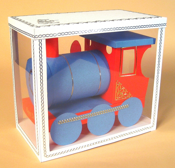 Card Craft Templates - Train in display box