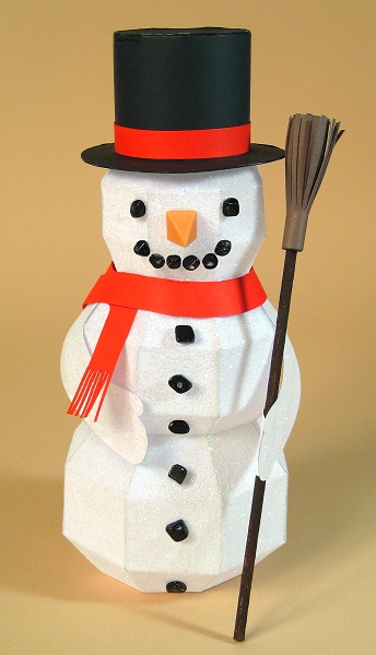 Card Craft Templates for Christmas, Snowman