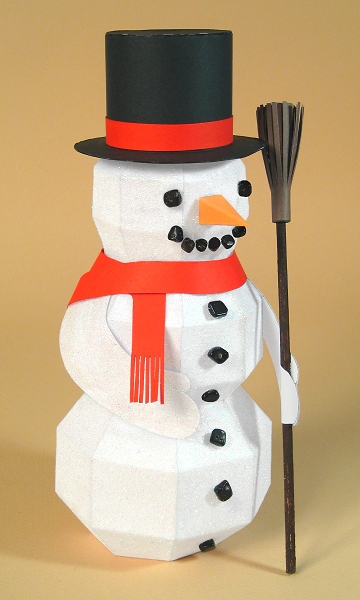 Card Craft / Card Making Templates for Christmas, Snowman